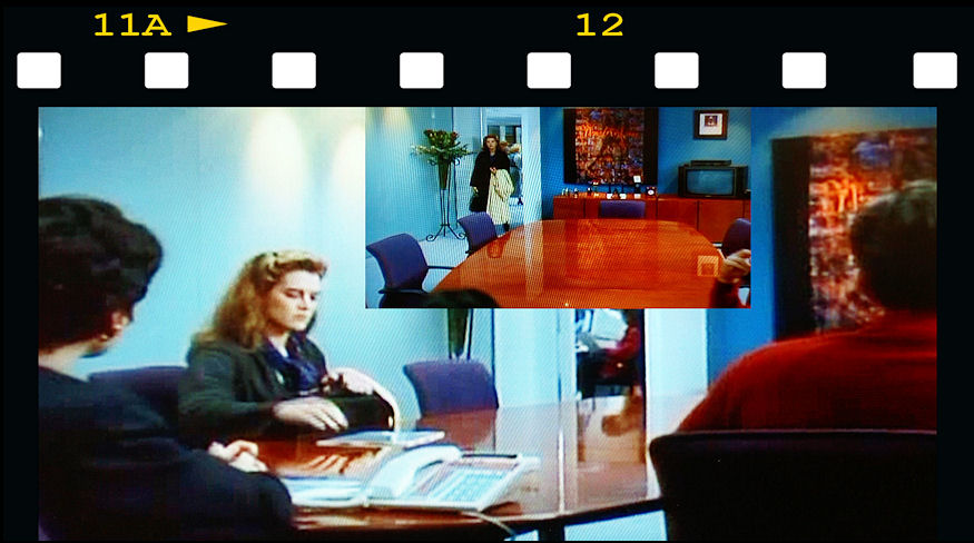 "1994, office furniture designed for a major film set in ""The Seventh Floor"" starring Brooke Shields."